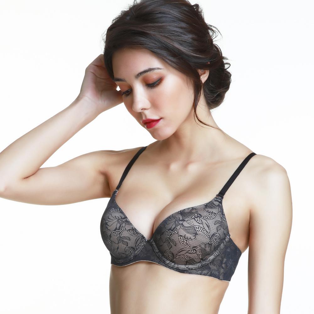 黛安芬-BODY MAKE-UP 身體底妝T-shirt版B-D罩杯內衣(裸膚黑)