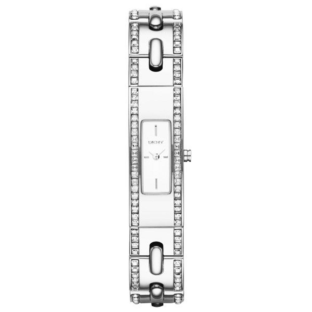 DKNY 晶鑽別緻典雅風格時尚女錶(NY2175)-銀-33mmX13mm