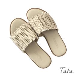 夏日編織平底拖鞋 共二色 TATA