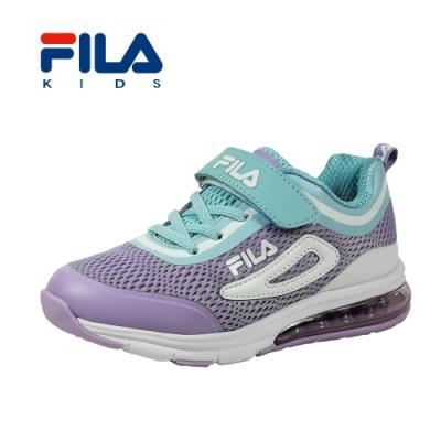 FILA 氣墊慢跑鞋 紫藍 大童(6~12歲) 3-J809T-931