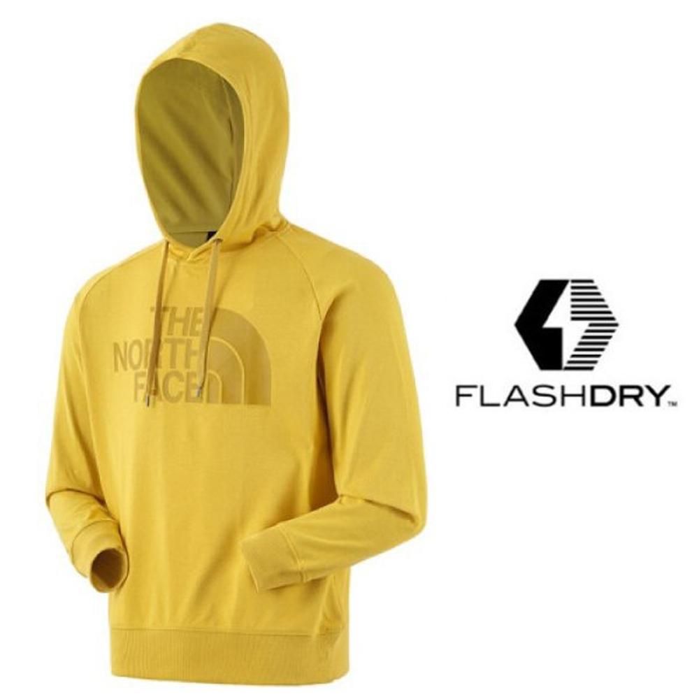 The North Face 新款 FlashDry 閃電快乾長袖連帽上衣_黃 N