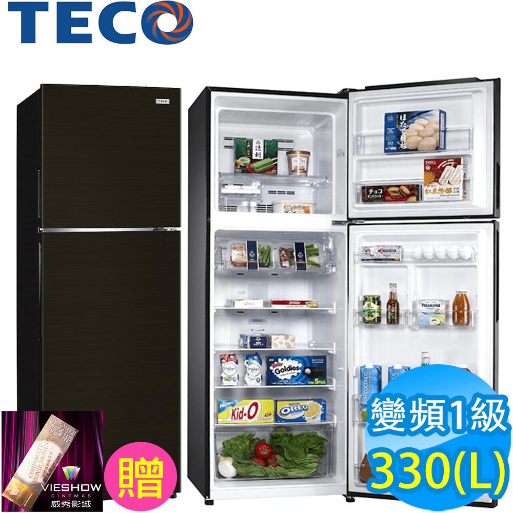TECO東元 330L 1級變頻2門電冰箱 R3501XBR