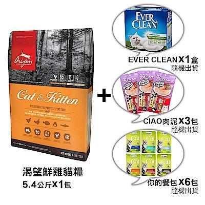 渴望 貓 野牧鮮雞 挑嘴貓配方 5.4KGx1包 【組合購】