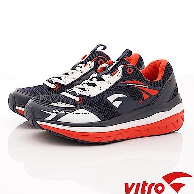 Vitro韓國專業運動品牌-OC101-N/R 健走機能鞋-藍紅(女)