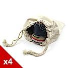 糊塗鞋匠 優質鞋材 G117 帆布收納鞋袋-4個