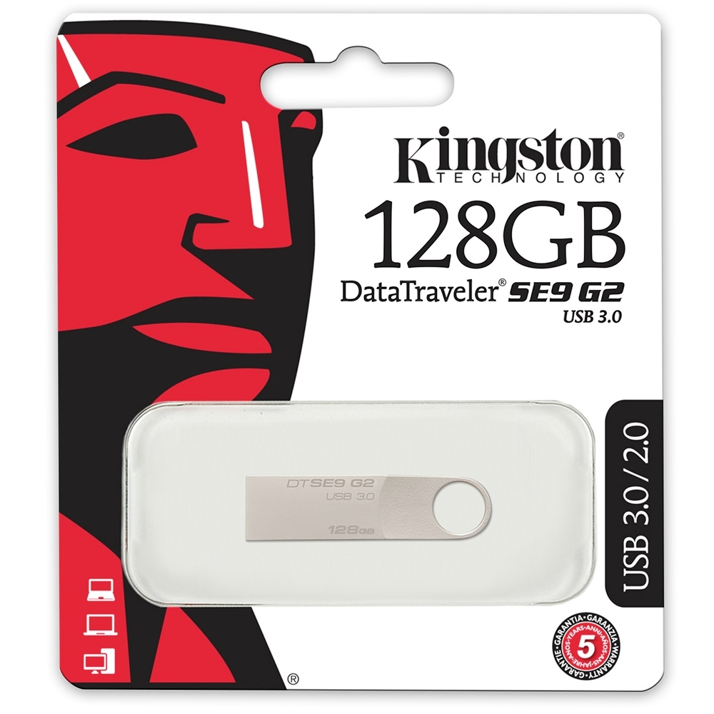 金士頓 Kingston DataTraveler SE9 G2 USB3.0 128GB DTSE9G2/128G 隨身碟