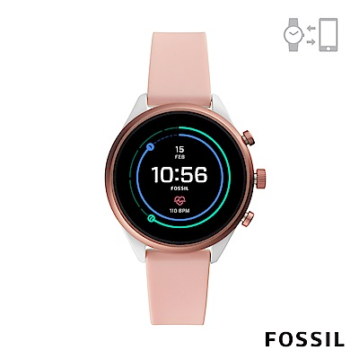 FOSSIL SPORT 運動智能錶-41MM 粉裸色矽膠