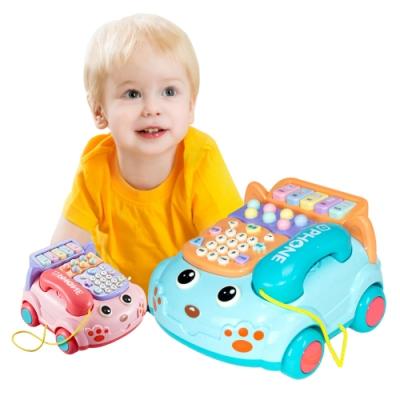 JoyNa兒童玩具仿真電話機 嬰兒益智音樂電話車