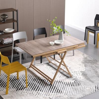 MUNA 卡爾森5尺功能餐桌(兩用) 150X100X77cm