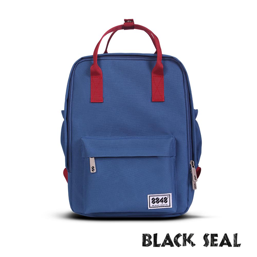 BLACK SEAL 聯名8848系列-多隔層休閒小方型後背包-藏青BS83008