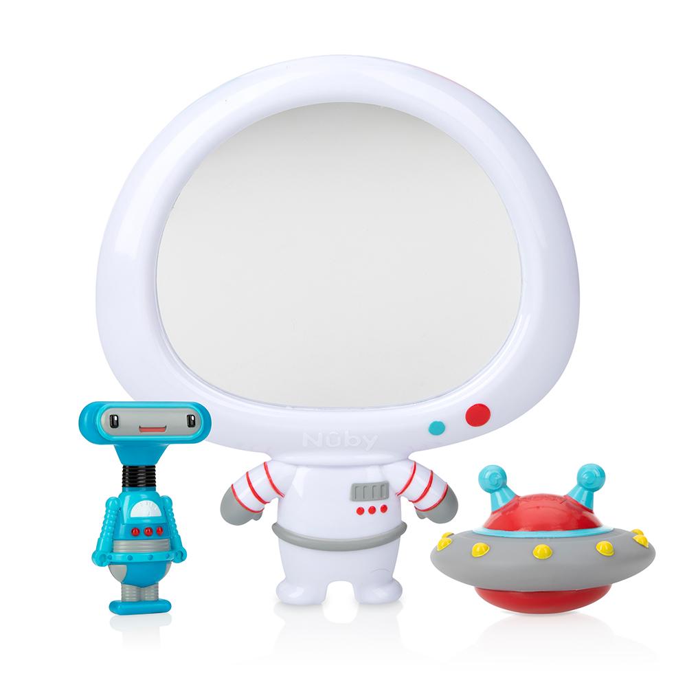 Nuby洗澡玩具-太空人