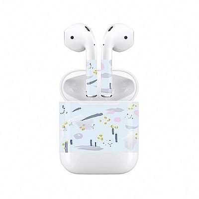 mogen AirPods 隨身耳機保護貼 粉藍幻境款