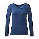 黛安芬-緞面長袖衛生衣 M-EL(深海藍)
