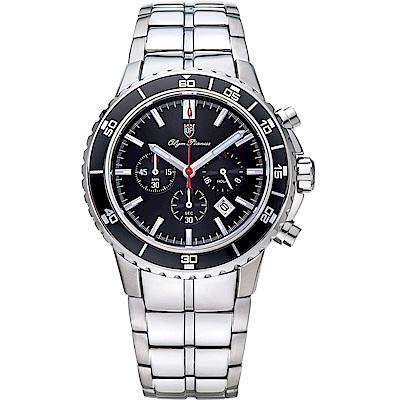 Olym Pianus 奧柏表 潛水風格多功能計時三眼腕錶  89091-3GS