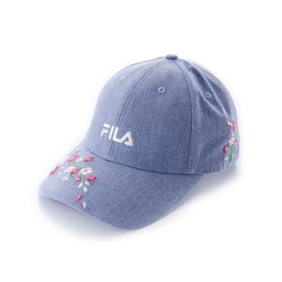 FILA 時尚LOGO帽-藍 HTU-1200-BU