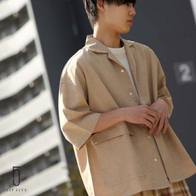 ZIP日本男裝 縫線短袖開領襯衫(10色)