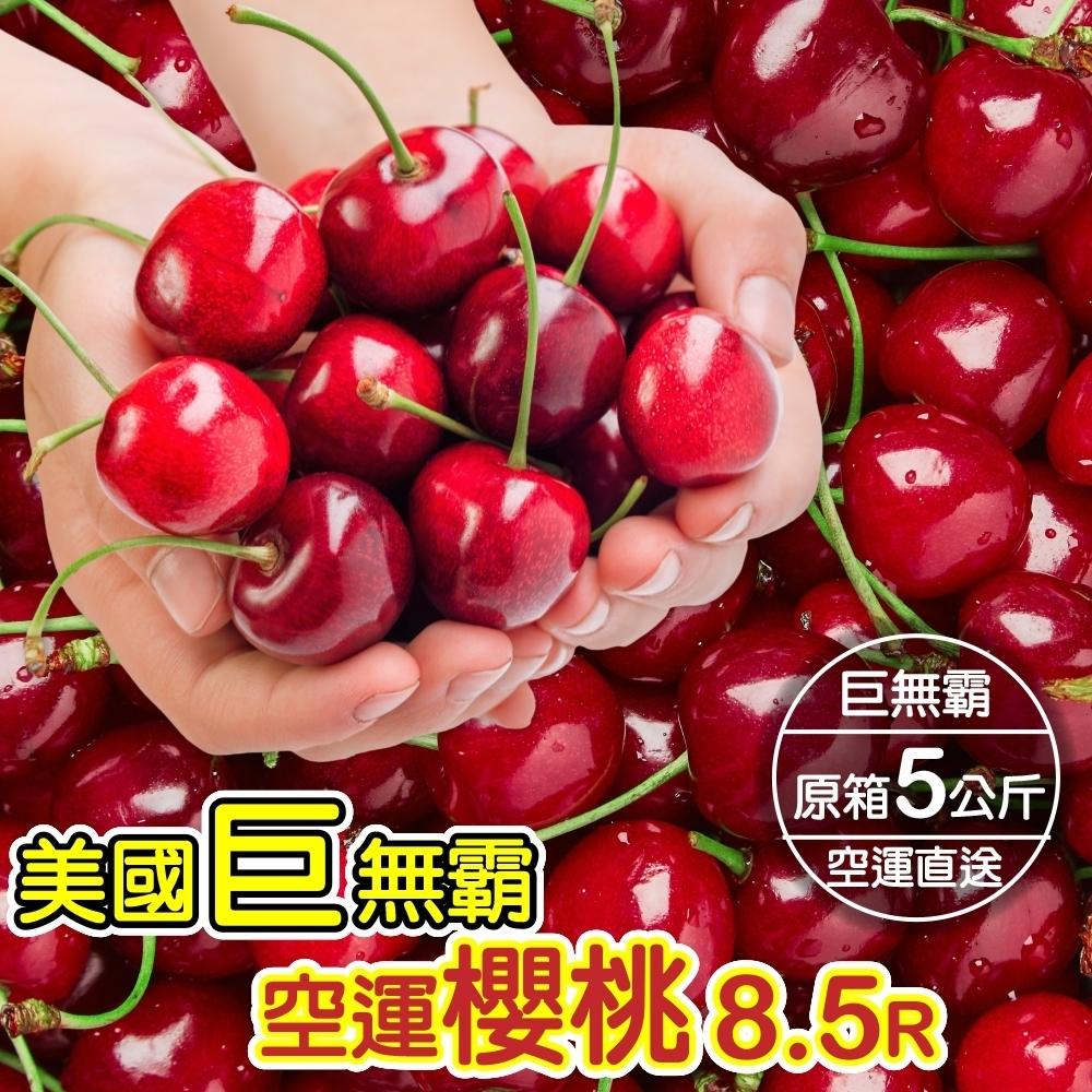 【天天果園】美國華盛頓8.5R櫻桃5kg x1箱