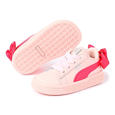 PUMA-BasketBowACInf嬰孩鞋-蜜桃紅