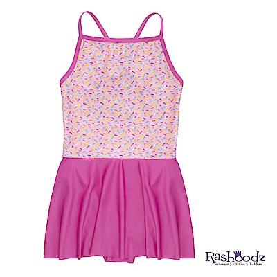 澳洲 RASHOODZ 兒童抗UV防曬一件式裙擺連身泳裝 (繽紛綿綿冰)