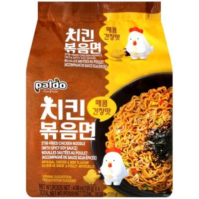 韓Paldo Paldo鐵板辣雞炒麵-醬油風味(520g)