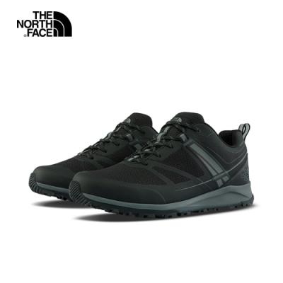 The North Face北面男款黑灰色防水透氣徒步鞋|4PFGKZ2