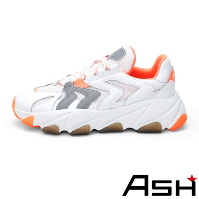 ASH-EXTREME系列潮流時尚增高厚底老爹鞋-珊瑚橘