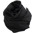GUCCI 經典LOGO羊毛織圍巾/披肩(黑)