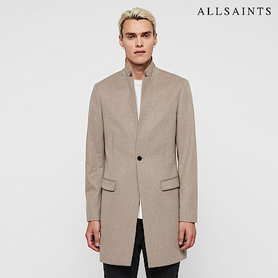 ALLSAINTS BODELL 素面翻領純羊毛大衣