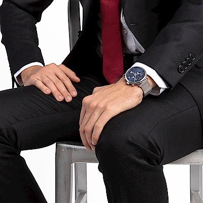CALVIN KLEIN highnoon 巔峰系列計時手錶-藍/43mm