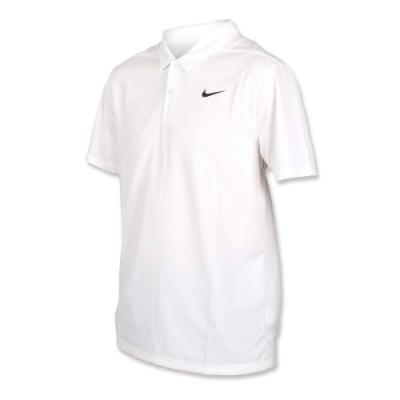 NIKE GOLF GOLF 男針織短袖POLO衫-短袖上衣 高爾夫 慢跑 白黑