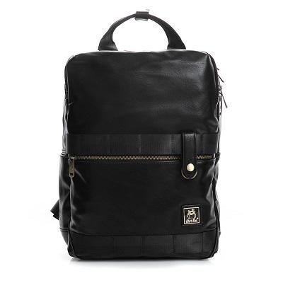 SharPei沙皮狗-城市漫遊x雙層拉鍊造型後背包-典藏黑