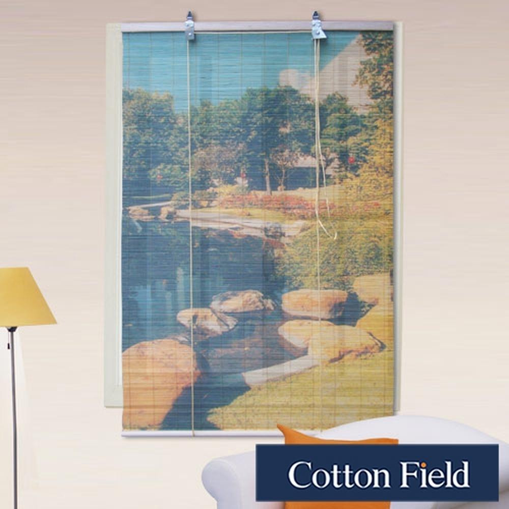 棉花田 池畔 彩色天然竹捲簾(120x160cm)