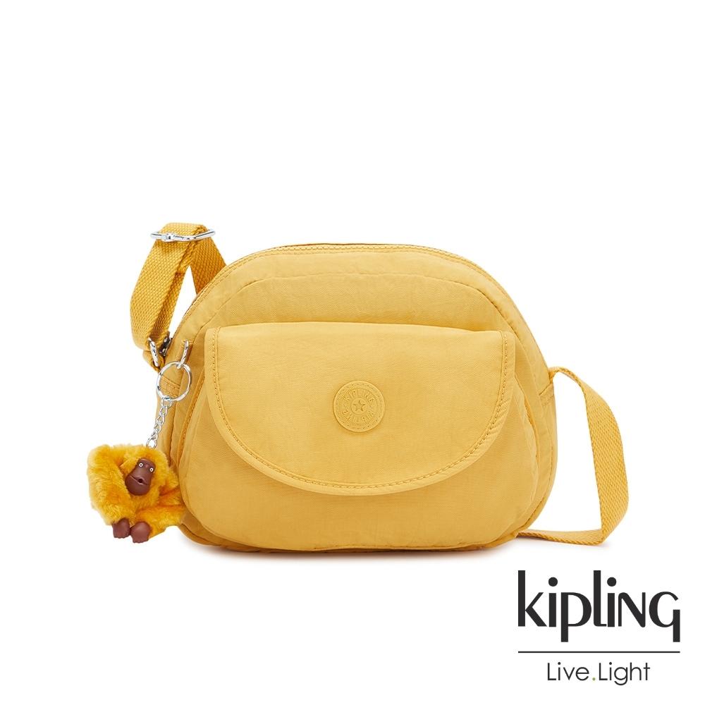 Kipling 鮮豔太陽黃翻蓋側背小包-STELMA