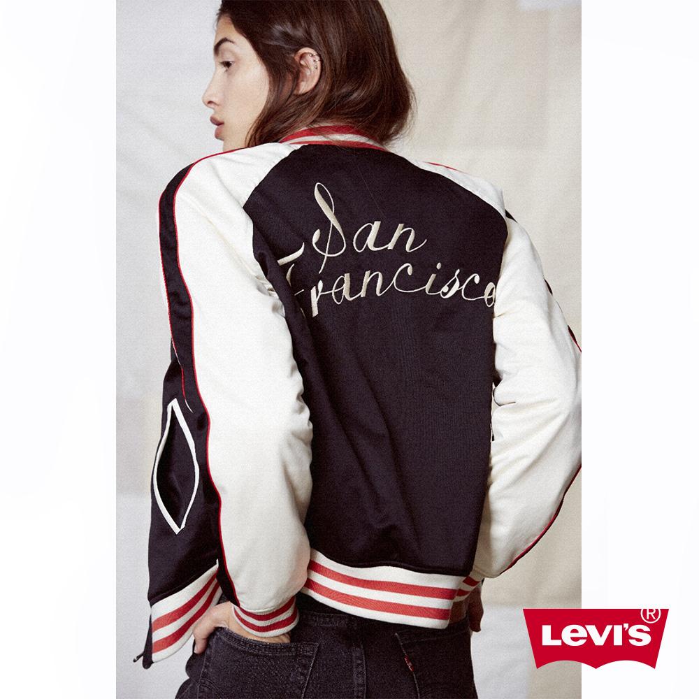 Levis 女裝 棒球外套 雙面穿著 橫須賀立體刺繡