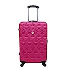 Gate9花花系列/28吋/ABS霧面輕硬殼旅行箱/行李箱-桃紅色