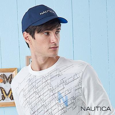Nautica簡約LOGO防水休閒帽-深藍