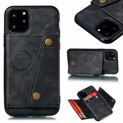 PKG Apple iPhone11 Pro Max (6.5吋)皮套-後翻可插卡-精緻黑