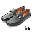 【bac】時尚樂活 精點裝飾真皮帆船鞋-黑色