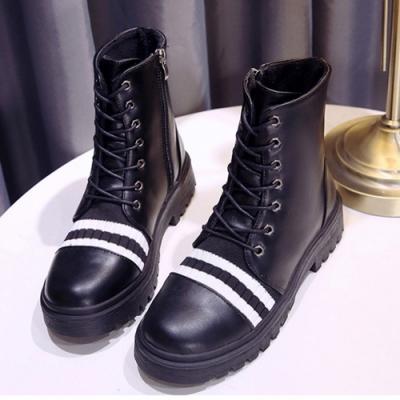KEITH-WILL時尚鞋館-綁帶蘿莉塔氣質韓版中筒靴-白色