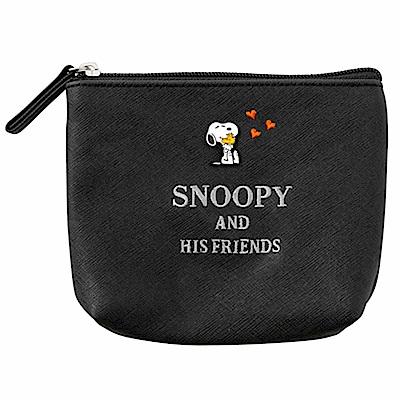 Sanrio SNOOPY PU皮革面紙化妝包(抱抱鉚釘)