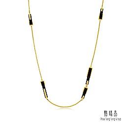 點睛品 g* 系列 黑瑪瑙黃金項鍊(長鍊)