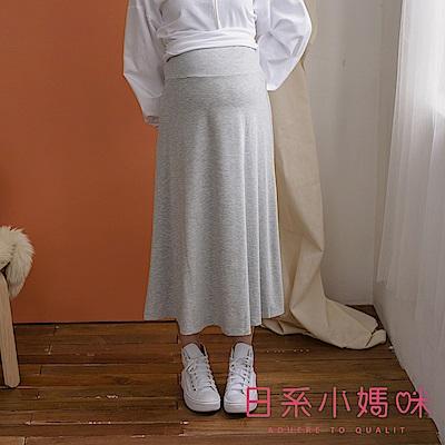 日系小媽咪孕婦裝-正韓孕婦裙~顯瘦棉質長裙~瑜珈腰圍~