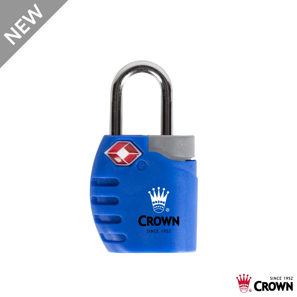 CROWN 皇冠 TSA 鑰匙海關鎖 鎖頭掛鎖 藍色