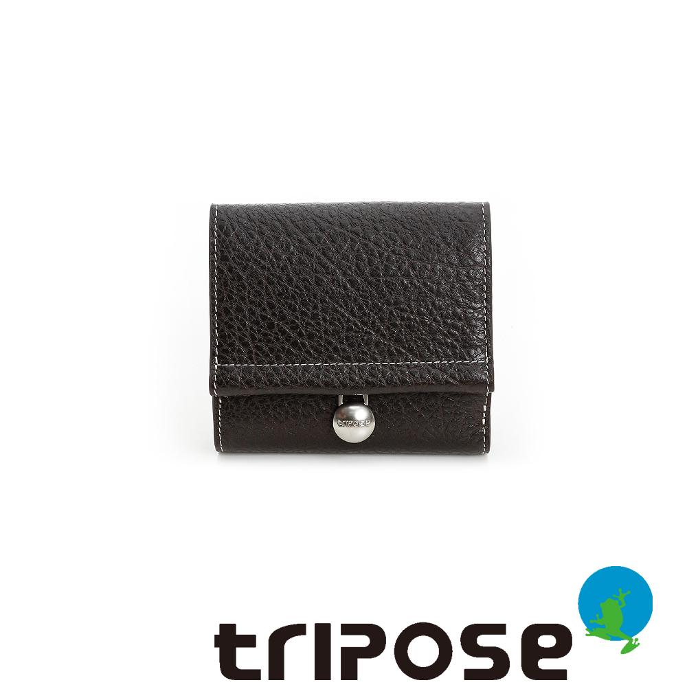 triposeYuppie系列經典LOGO鐵扣女短夾(黑)