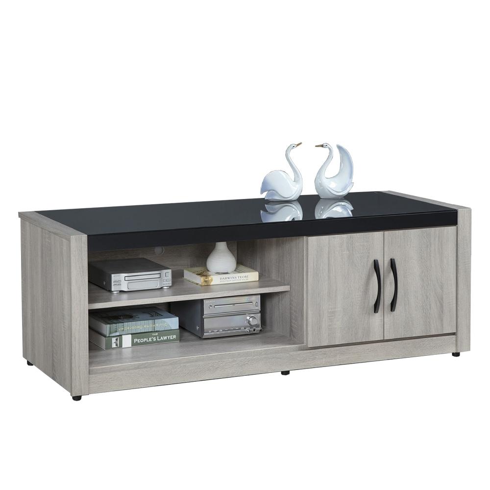 【AT HOME】簡約現代5尺鋼刷淺灰色電視櫃/長櫃/客廳櫃(清心)