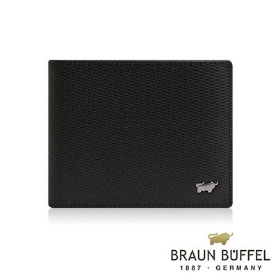 BRAUN BUFFEL -席德系列5卡窗格皮夾 - 雅典黑