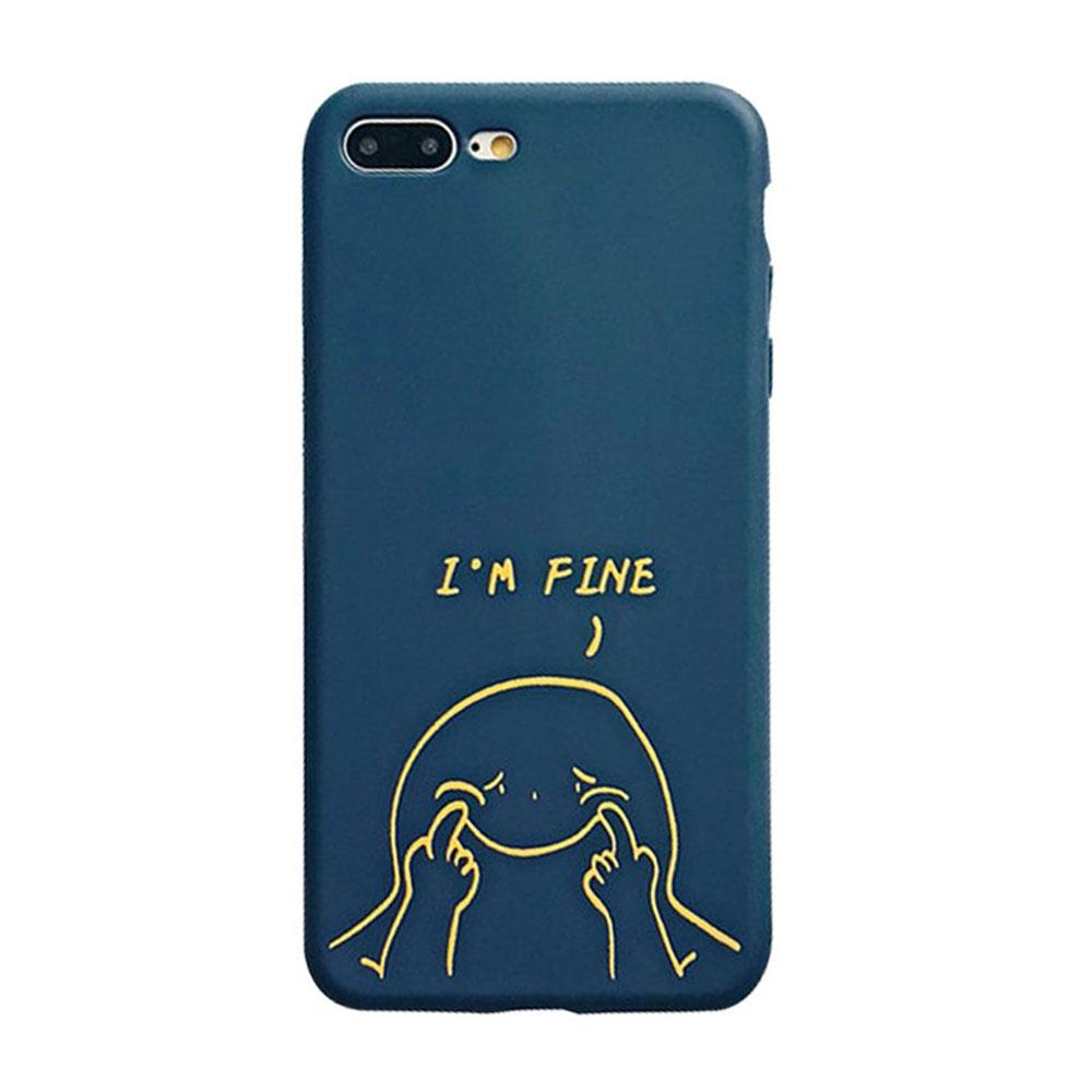 【TOYSELECT】iPhone 7/8 Plus 傻蹦強顏歡笑創意手機殼