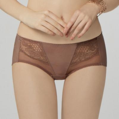 曼黛瑪璉 包覆提托經典低腰平口內褲 (樹豆棕)