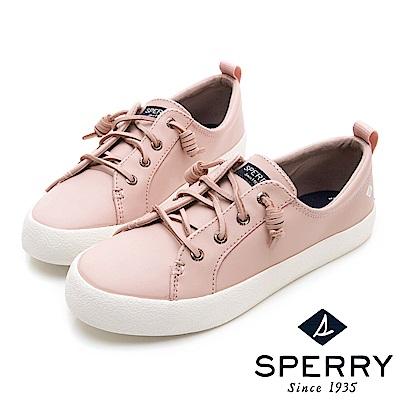 SPERRY 粉彩潮流時尚牛皮休閒鞋(女)-粉色