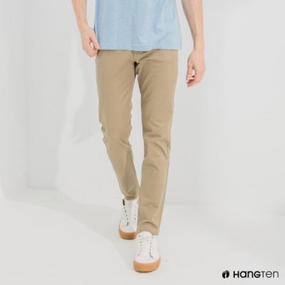 Hang Ten-男裝-經典款-SKINNY FIT緊身長褲-卡其色